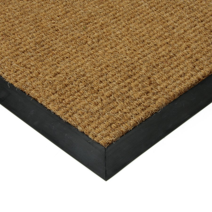 Béžová textilní zátěžová čistící vnitřní vstupní rohož Catrine, FLOMA - délka 80 cm, šířka 100 cm a výška 1,35 cm