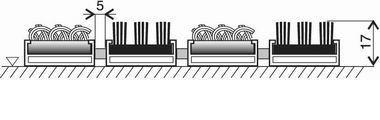 Textilní hliníková kartáčová vnitřní vstupní rohož Alu Extra, FLOMA - délka 100 cm, šířka 100 cm a výška 1,7 cm
