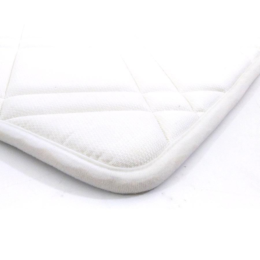Bílá pěnová koupelnová předložka - délka 85 cm a šířka 52 cm