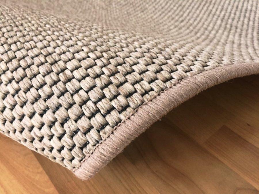 Béžový kusový kulatý koberec Nature - průměr 100 cm