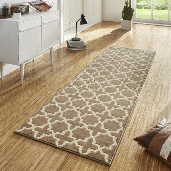 Béžový kusový moderní koberec Basic - délka 500 cm a šířka 80 cm