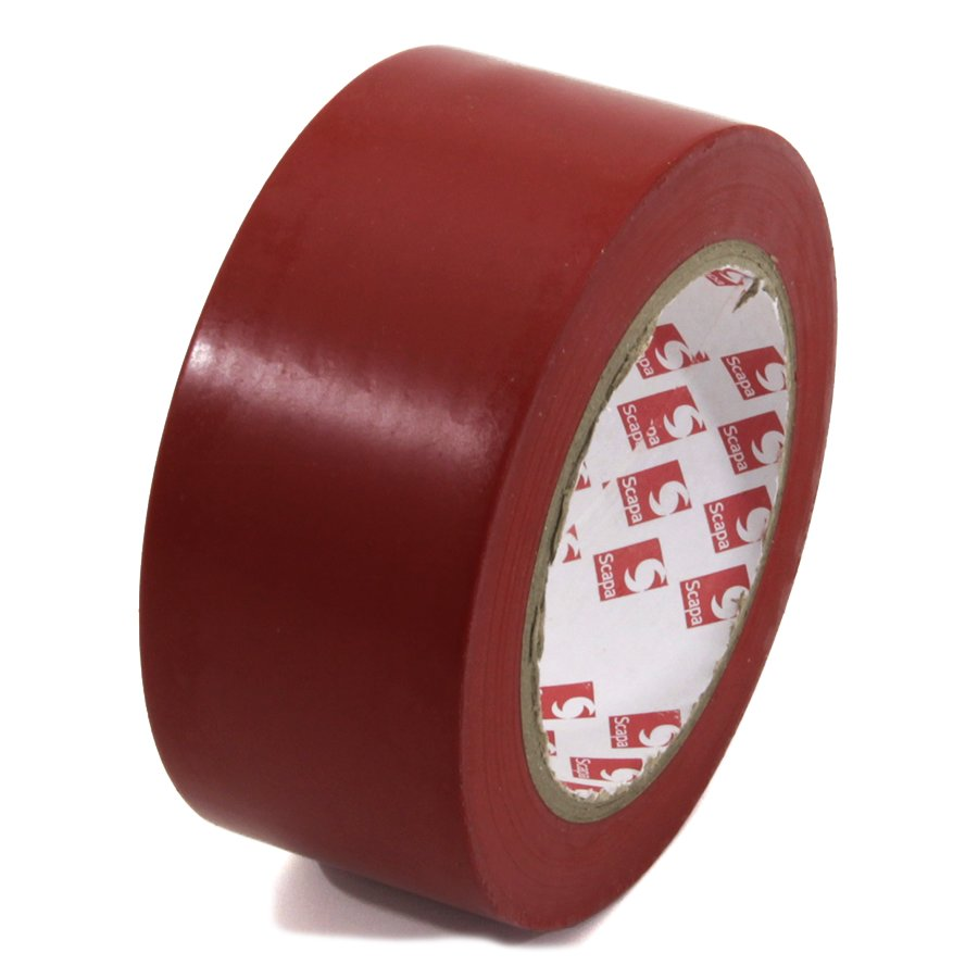 Červená vyznačovací páska Super - délka 33 m a šířka 5 cm