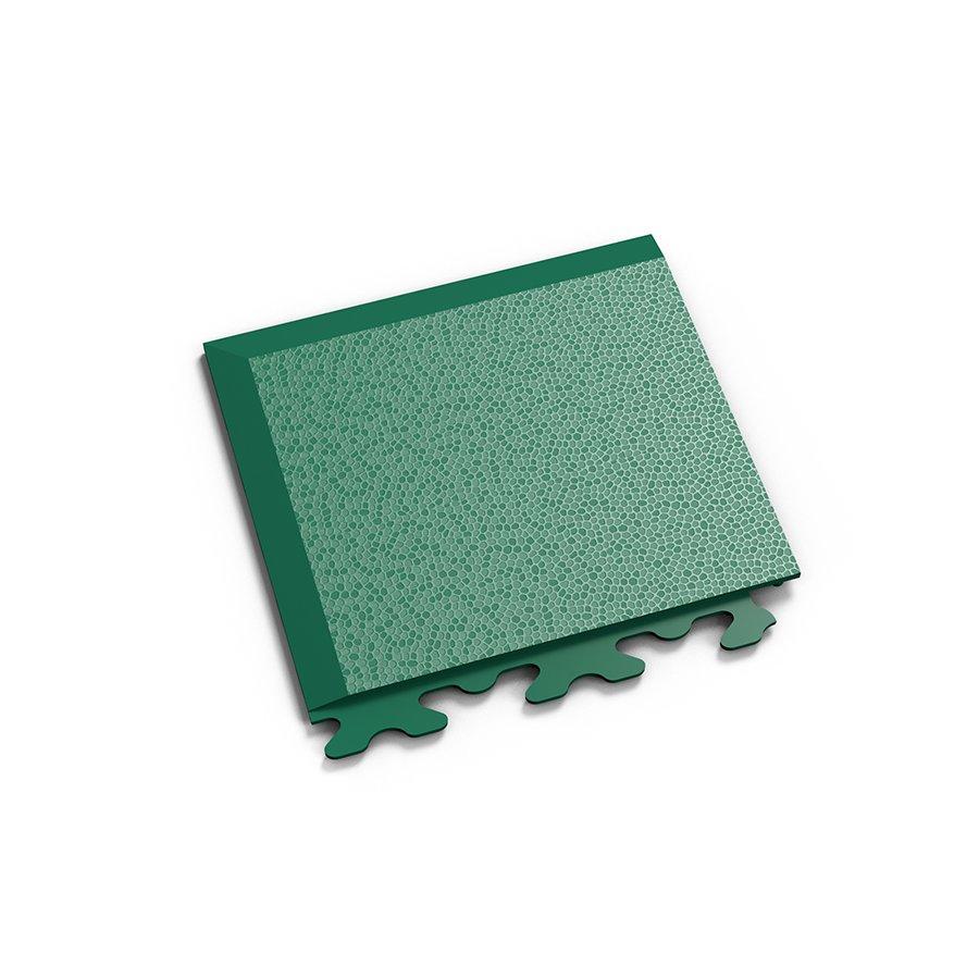 """Zelený vinylový plastový rohový nájezd """"typ A"""" Invisible 2036 (hadí kůže), Fortelock - délka 14,5 cm, šířka 14,5 cm a výška 0,67 cm"""