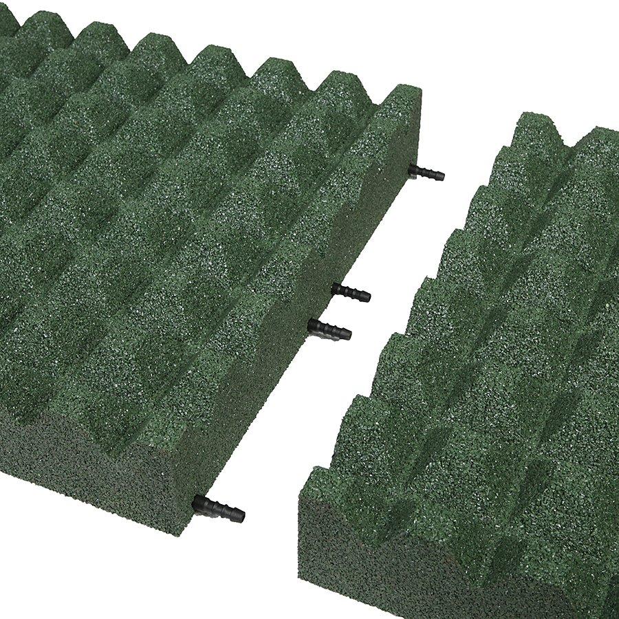 Zelená gumová dlaždice (V90/R28) - délka 50 cm, šířka 50 cm a výška 9 cm