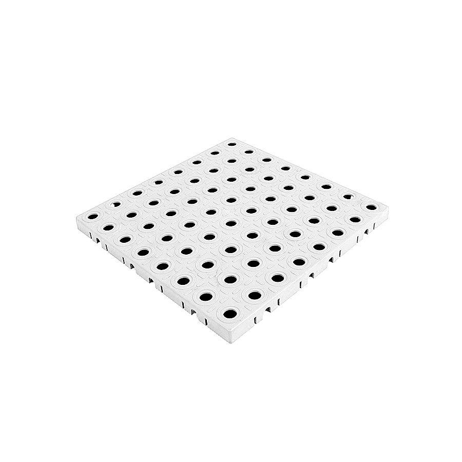 Bílá plastová modulární dlaždice AvaTile - délka 25 cm, šířka 25 cm a výška 1,6 cm