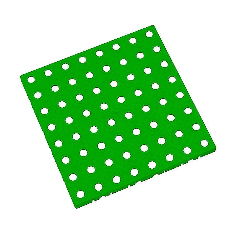 Zelená plastová modulární dlaždice AvaTile - délka 25 cm, šířka 25 cm a výška 1,6 cm