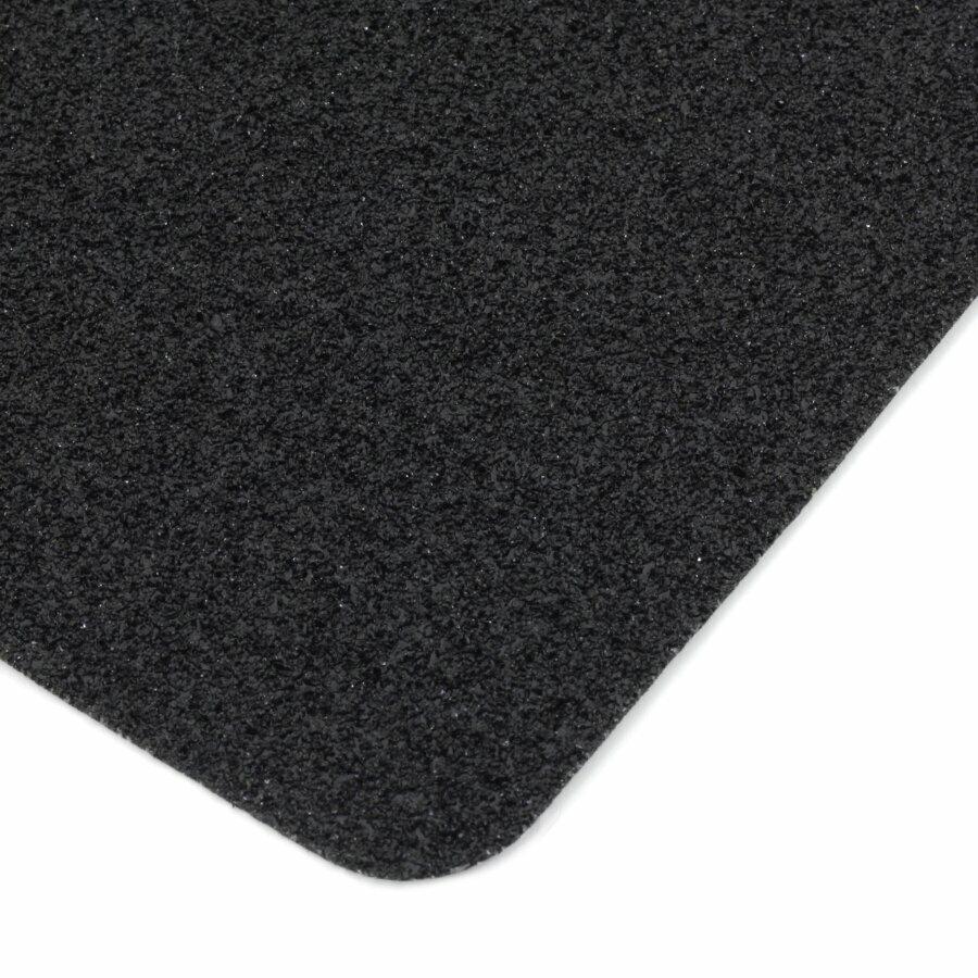 Černá korundová protiskluzová páska (dlaždice) FLOMA Extra Super - délka 14 cm, šířka 14 cm a tloušťka 1 mm