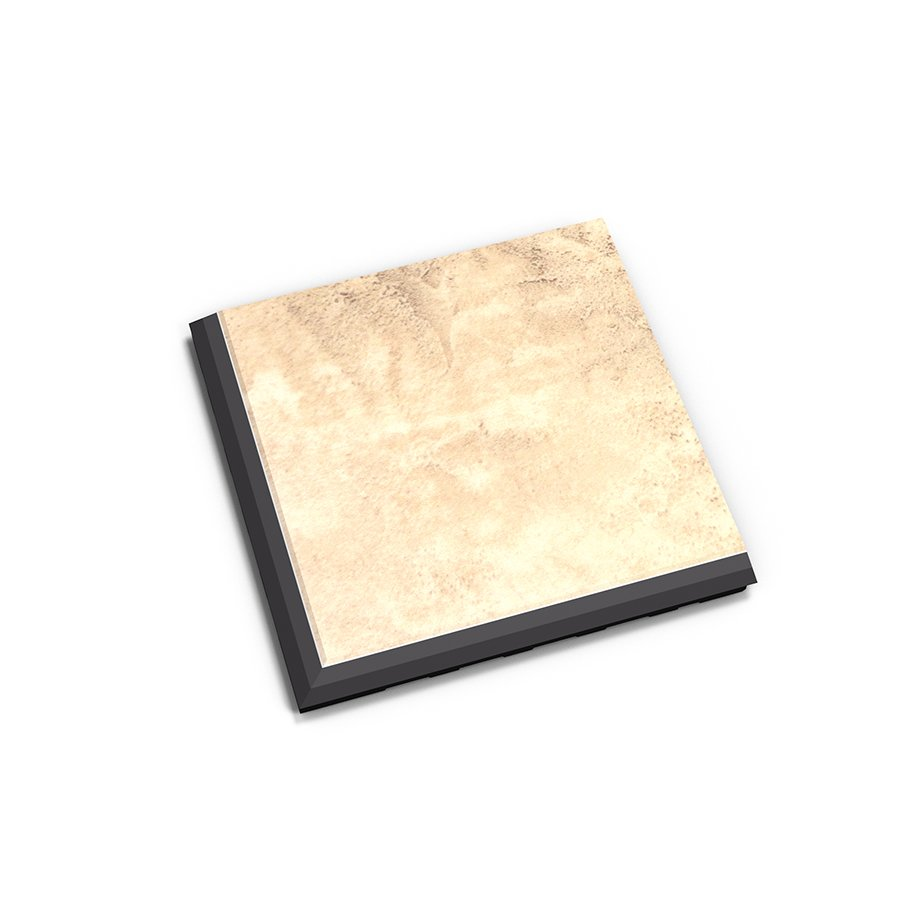 "Béžový vinylový plastový rohový nájezd ""typ C"" Business Decor 2128, Fortelock - délka 14,5 cm, šířka 14,5 cm a výška 0,65 cm"
