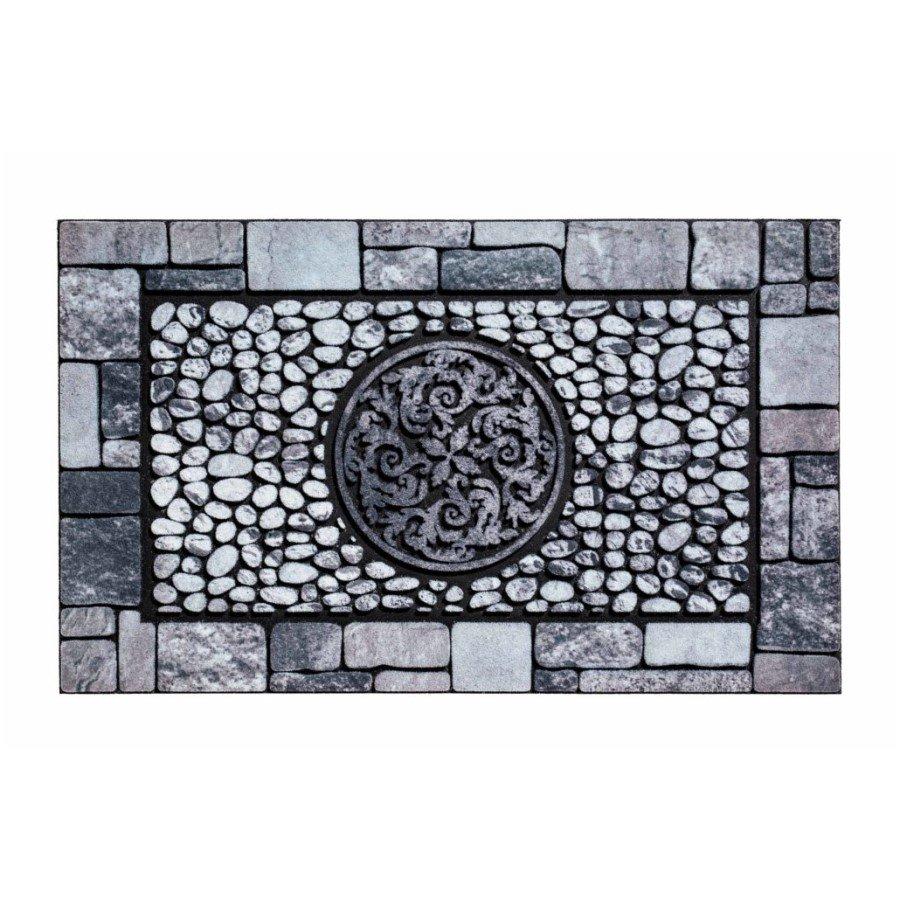 Venkovní čistící vstupní rohož FLOMA Residence Ornament - délka 45 cm, šířka 75 cm a výška 0,9 cm