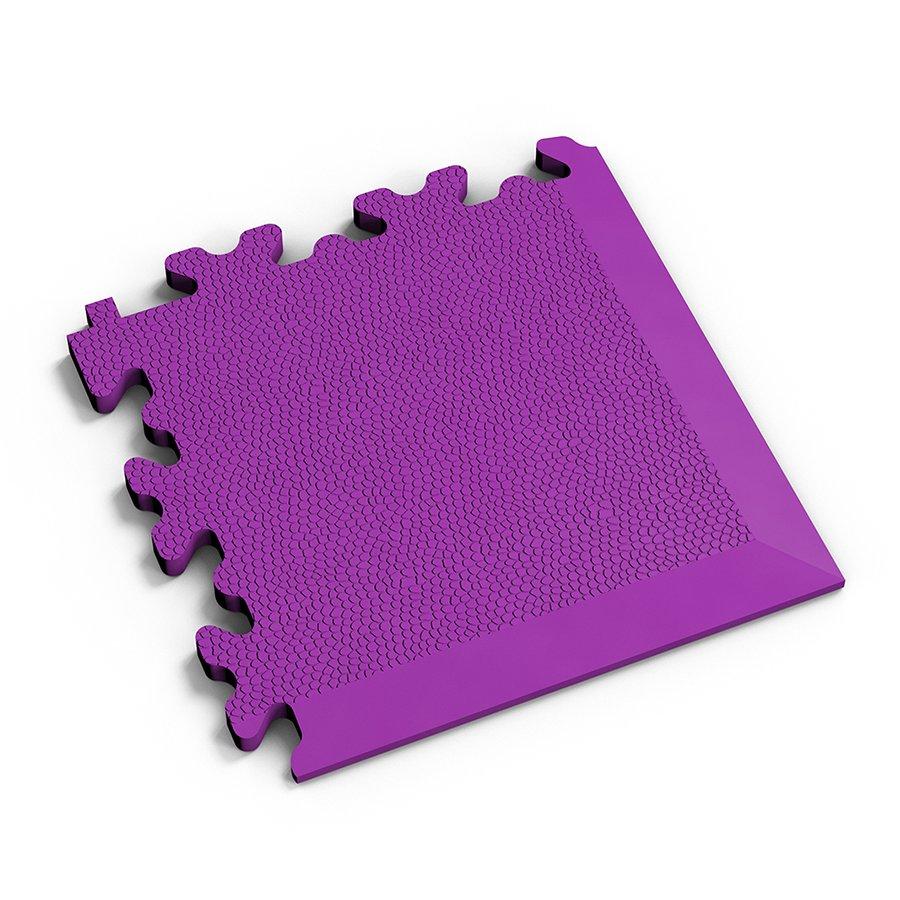 Fialový vinylový plastový rohový nájezd 2026 (kůže), Fortelock - délka 14 cm, šířka 14 cm a výška 0,7 cm