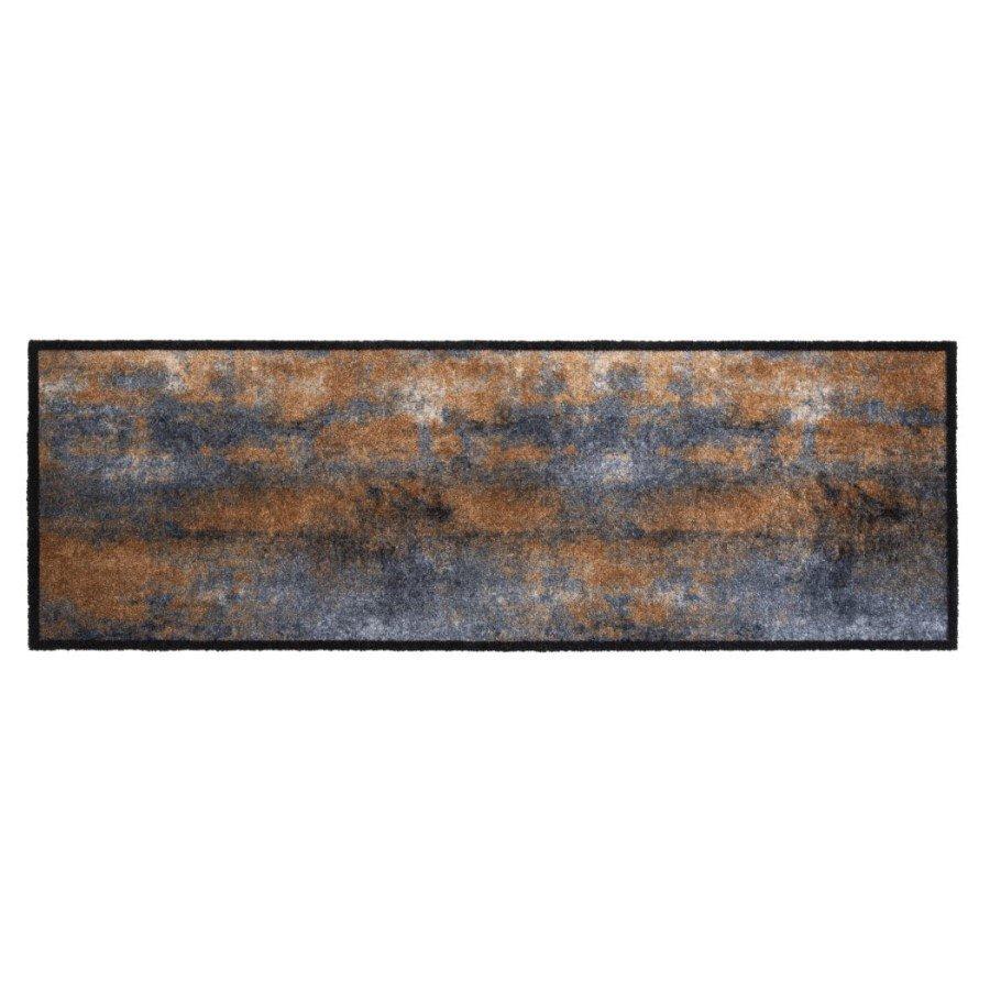 Vnitřní čistící pratelná vstupní rohož FLOMA Prestige Rust - délka 50 cm a šířka 150 cm