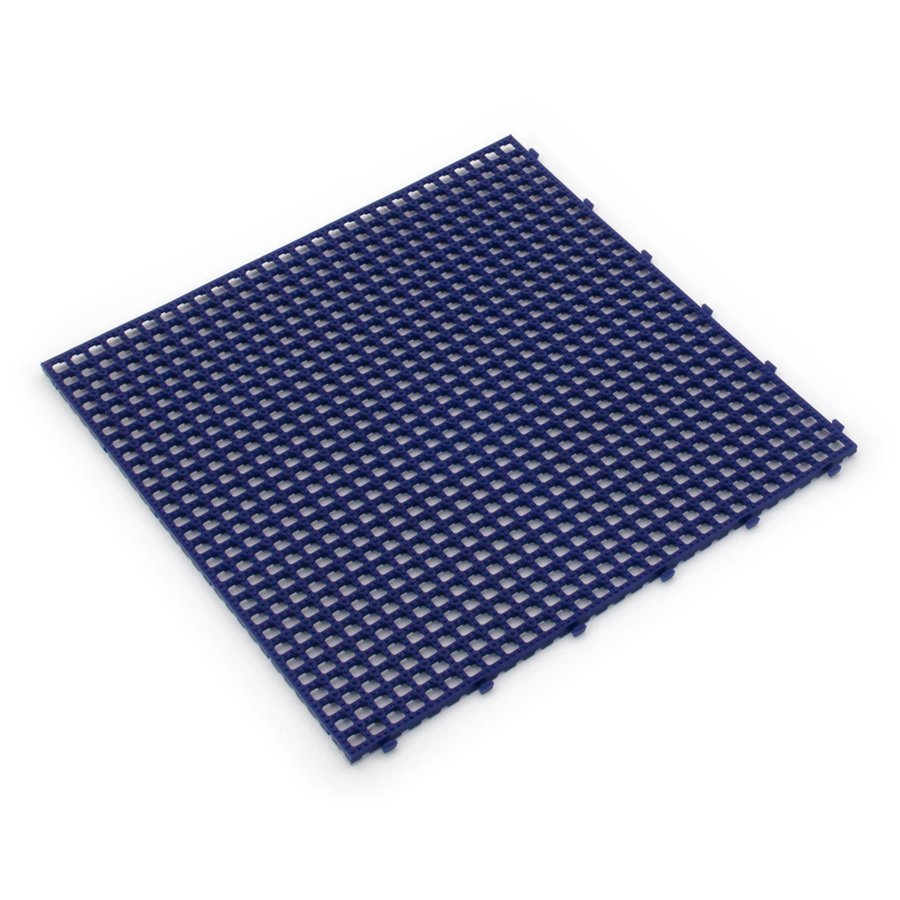 Modrá plastová terasová dlažba Linea Flextile - délka 39,5 cm, šířka 39,5 cm a výška 0,8 cm