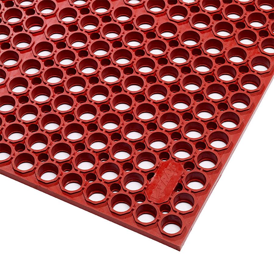 Červená gumová protiúnavová rohož Sanitop Deluxe, Red - délka 91 cm, šířka 152 cm a výška 2 cm