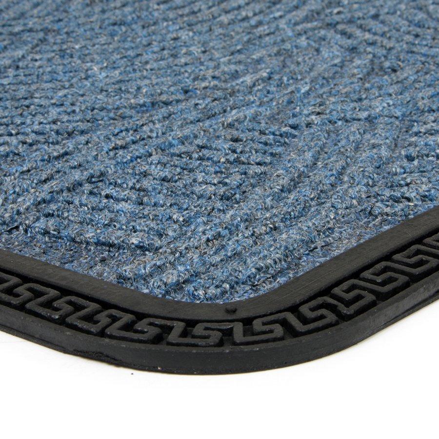 Modrá textilní vstupní venkovní čistící rohož Chaos, FLOMAT - délka 40 cm, šířka 60 cm a výška 0,8 cm