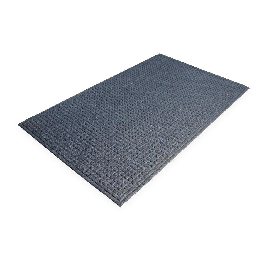 Modrá plastová čistící vnitřní vstupní rohož - výška 1 cm