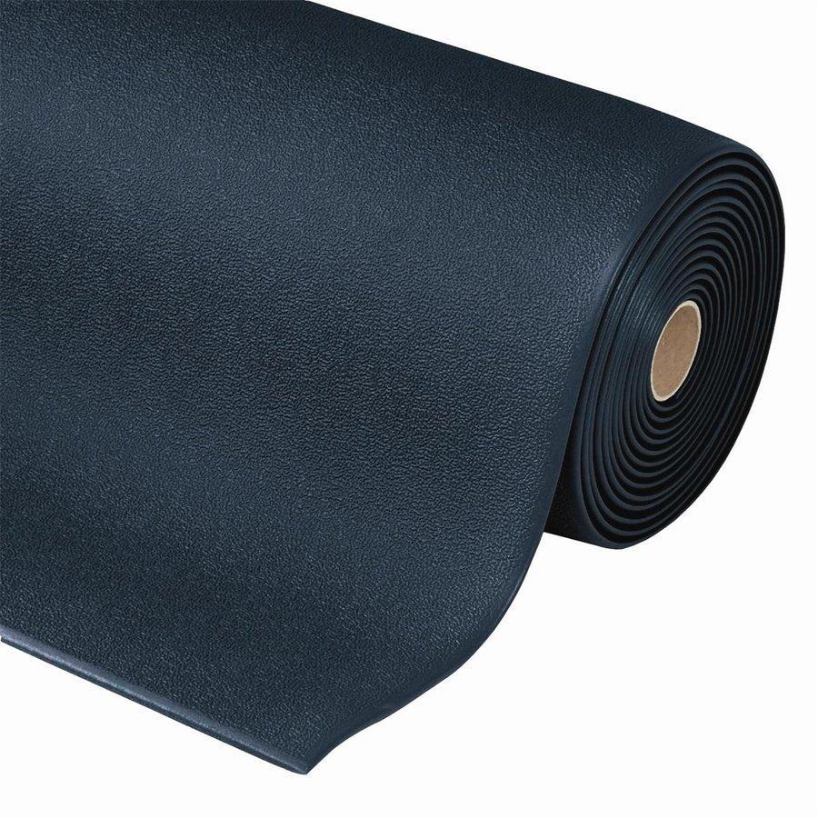 Černá metrážová protiúnavová průmyslová rohož - výška 0,94 cm