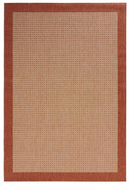 Červený kusový koberec Natural