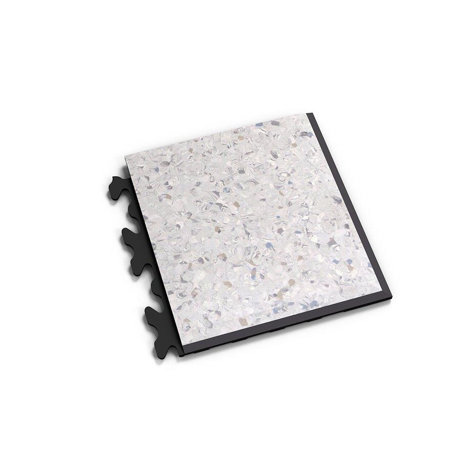 "Šedý vinylový plastový rohový nájezd ""typ D"" Solid Decor 2139, Fortelock - délka 14,5 cm, šířka 14,5 cm a výška 0,65 cm"