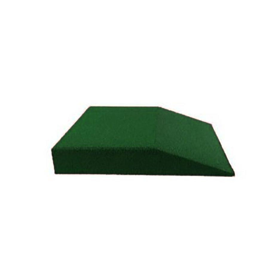 Zelená gumová krajová dopadová dlaždice (V90/R00) FLOMA - délka 50 cm, šířka 50 cm a výška 9 cm