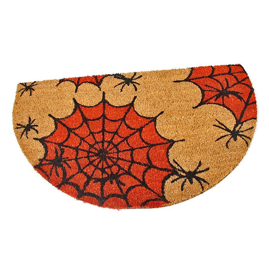 Kokosová vstupní venkovní čistící rohož Spiders, FLOMA - délka 45 cm, šířka 75 cm a výška 1,7 cm