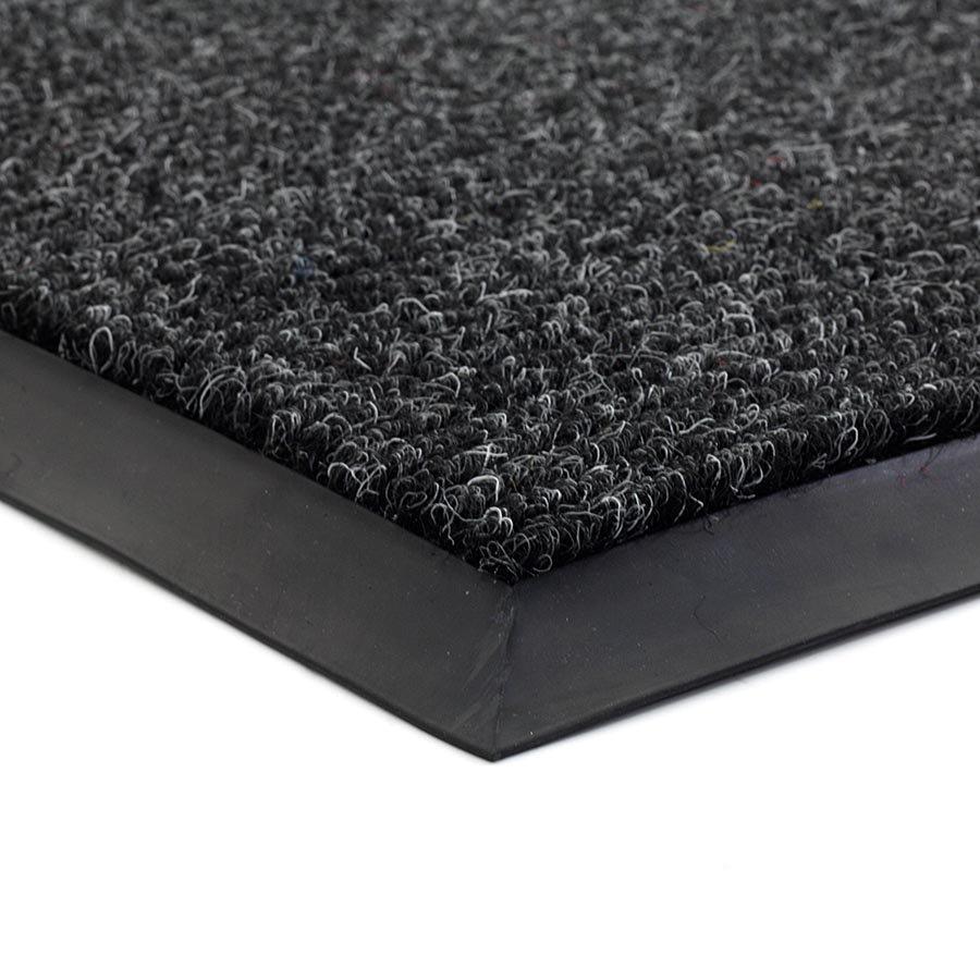 Černá textilní zátěžová čistící vnitřní vstupní rohož Catrine, FLOMA - délka 1 cm, šířka 1 cm a výška 1,35 cm