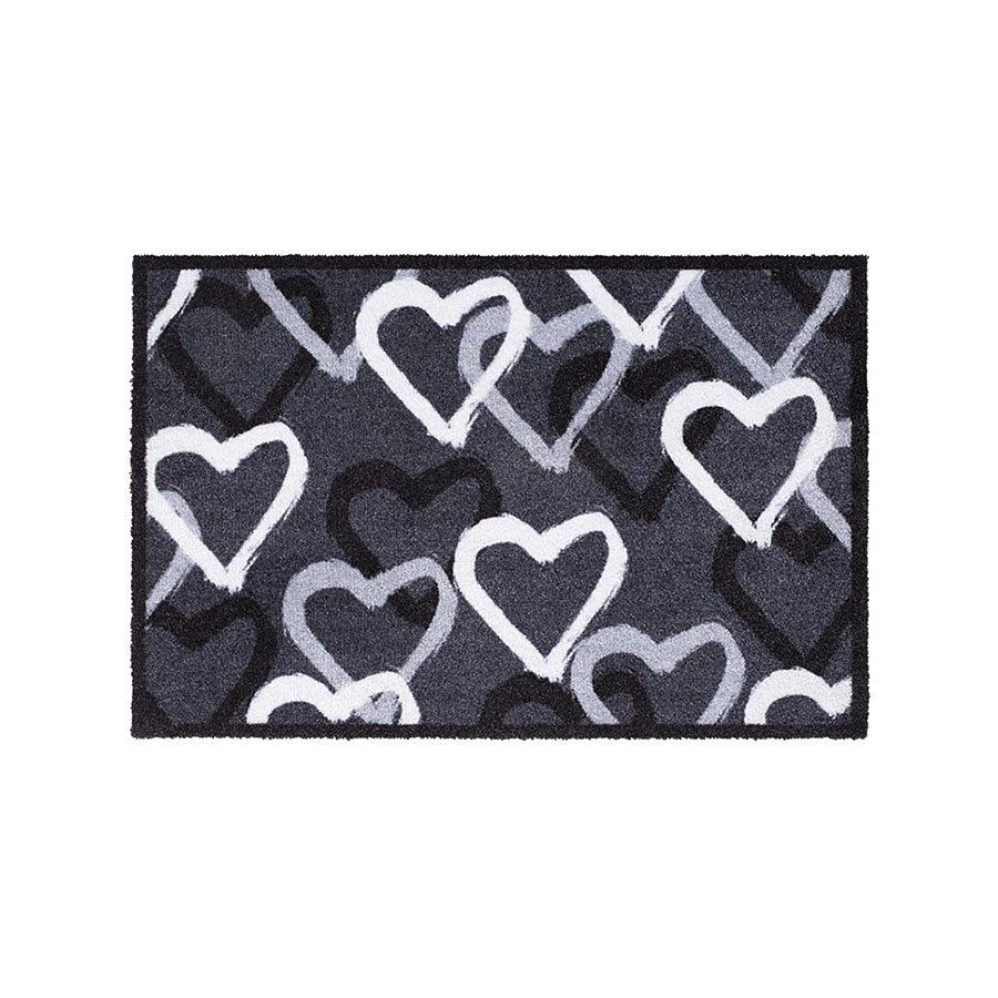 Vnitřní čistící vstupní rohož FLOMA Mondial Hearts - délka 40 cm a šířka 60 cm