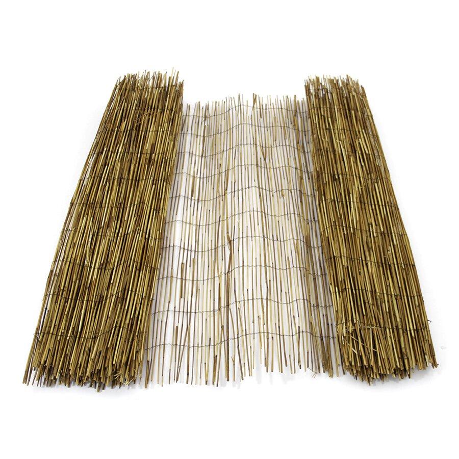 """Rákosová stínící rohož """"úzký rákos - káva"""" - délka 500 cm a výška 200 cm"""