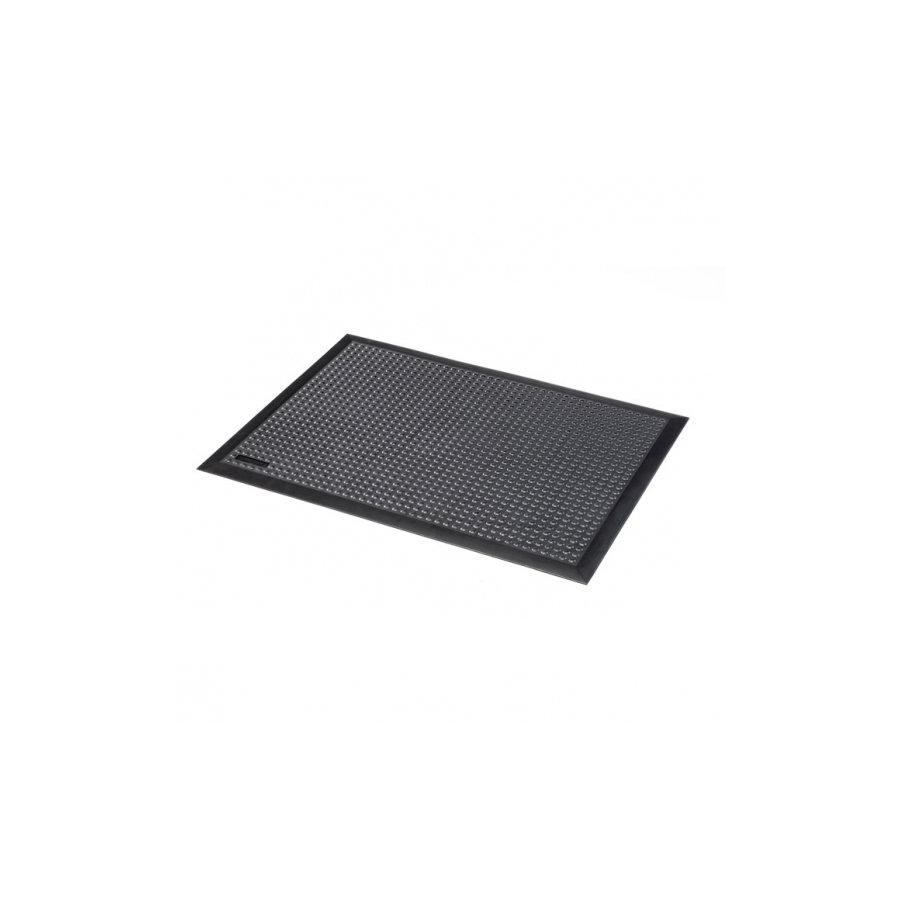 Černá průmyslová protiúnavová olejivzdorná rohož - délka 90 cm, šířka 60 cm a výška 1,5 cm