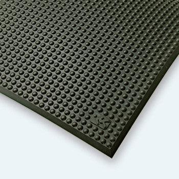 Černá průmyslová protiúnavová rohož - délka 90 cm, šířka 60 cm a výška 1,5 cm