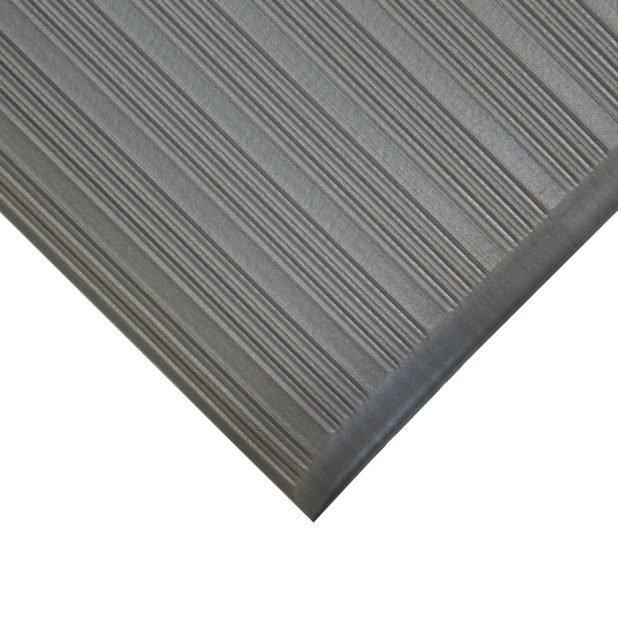 Šedá průmyslová protiúnavová protiskluzová metrážová pěnová rohož - šířka 60 cm a výška 0,9 cm