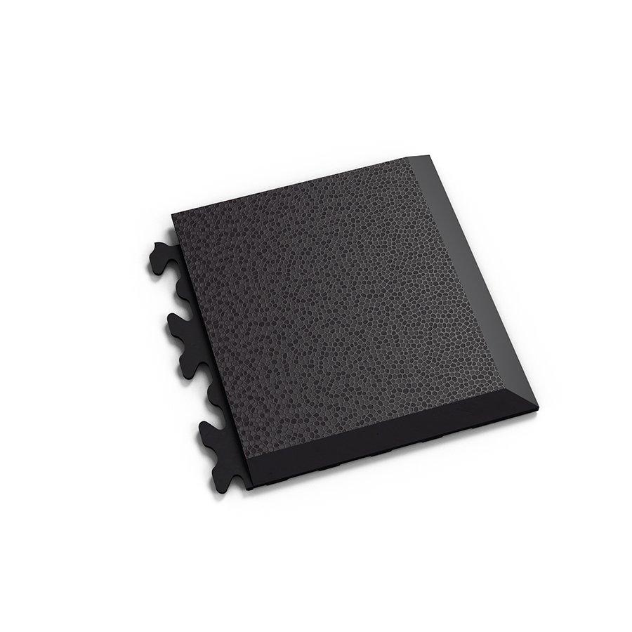 "Černý vinylový plastový rohový nájezd ""typ D"" Invisible Eco 2039 (hadí kůže), Fortelock - délka 14,5 cm, šířka 14,5 cm a výška 0,67 cm"