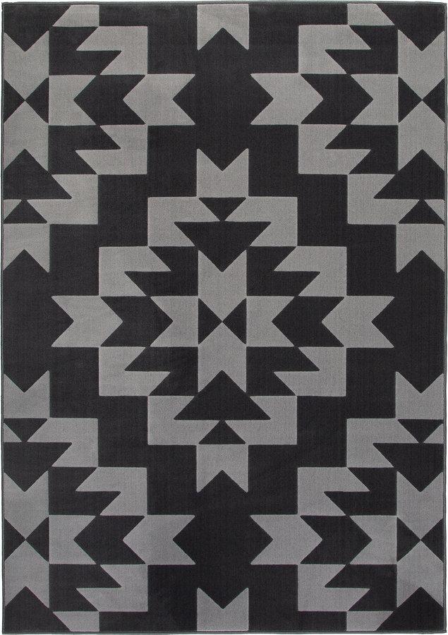 Šedý moderní kusový koberec Norik - délka 170 cm a šířka 120 cm