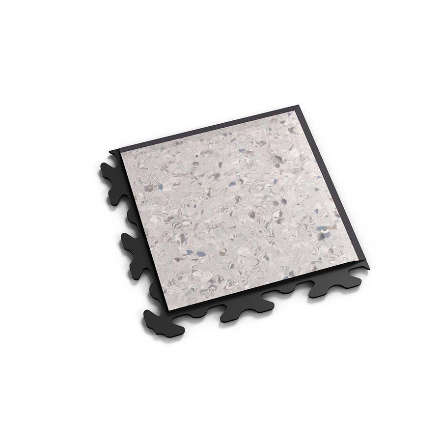 """Šedý vinylový plastový rohový nájezd """"typ B"""" Solid Decor 2137, Fortelock - délka 14,5 cm, šířka 14,5 cm a výška 0,65 cm"""