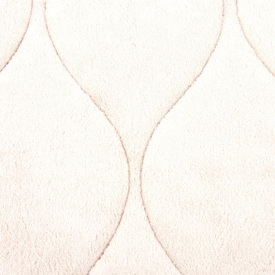 Béžová koupelnová pěnová předložka 03 - délka 85 cm a šířka 53 cm