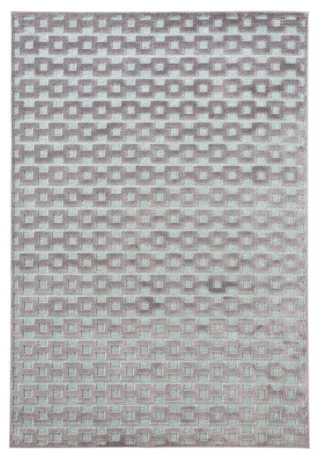 Modrý kusový moderní koberec Mint Rugs, Bouton