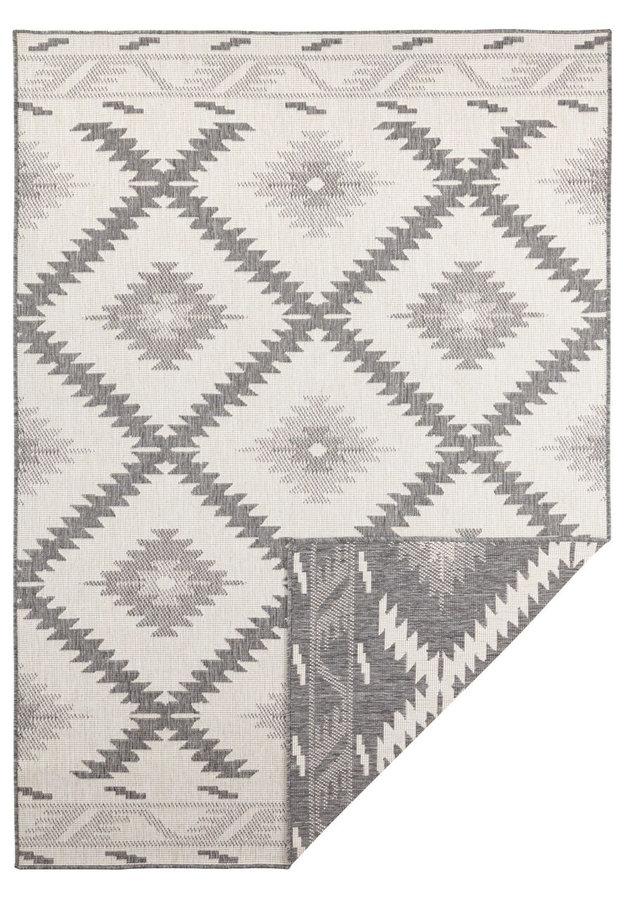 Šedý oboustranný moderní koberec Twin-Supreme, Malibu - šířka 80 cm