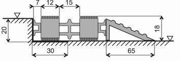 Textilní hliníková vnitřní vstupní rohož Hardmat, FLOMA - délka 60 cm, šířka 260 cm a výška 1,8 cm