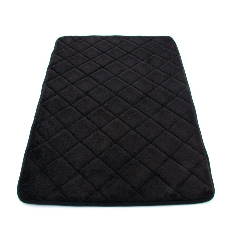 Černá koupelnová pěnová předložka 01 - délka 80 cm a šířka 50 cm