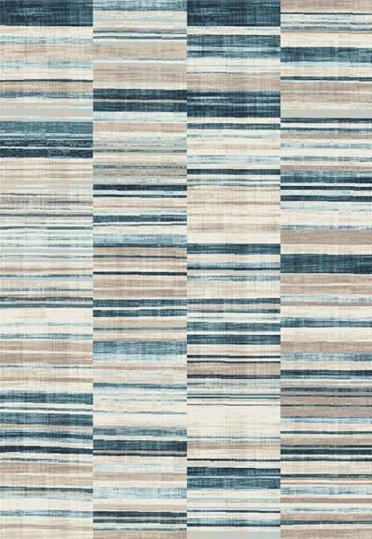 Modrý kusový moderní koberec Velvet