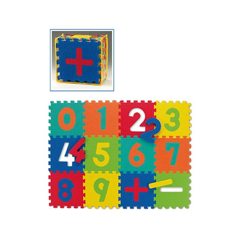 Modulární hrací dětská podložka - délka 30 cm, šířka 30 cm a výška 1,2 cm