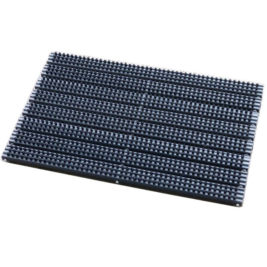 Plastová kartáčová čistící vstupní rohož pro zapuštění do podlahy - délka 38 cm, šířka 59 cm a výška 3 cm