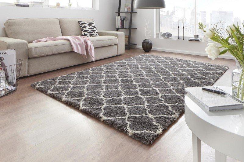 Šedý moderní kusový koberec Grace - délka 170 cm a šířka 120 cm