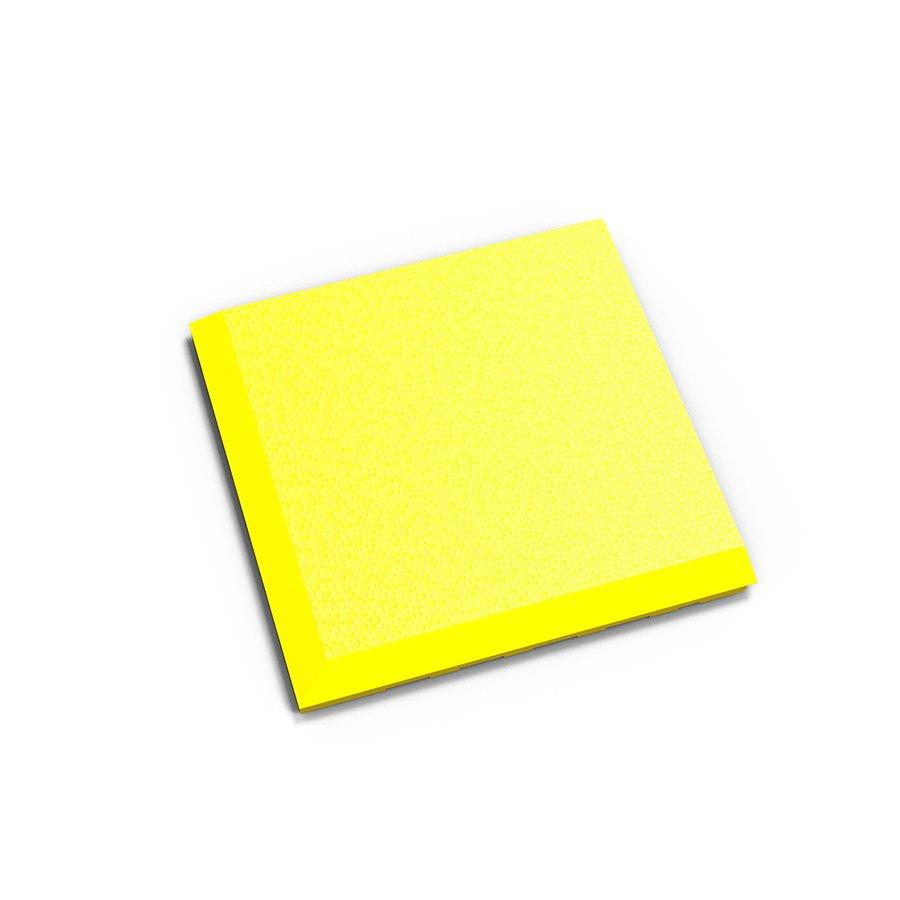 "Žlutý vinylový plastový rohový nájezd ""typ C"" Invisible 2038 (hadí kůže), Fortelock - délka 14,5 cm, šířka 14,5 cm a výška 0,67 cm"