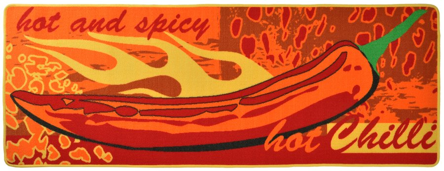 Červená kuchyňská kusová moderní předložka Loop - délka 180 cm a šířka 67 cm