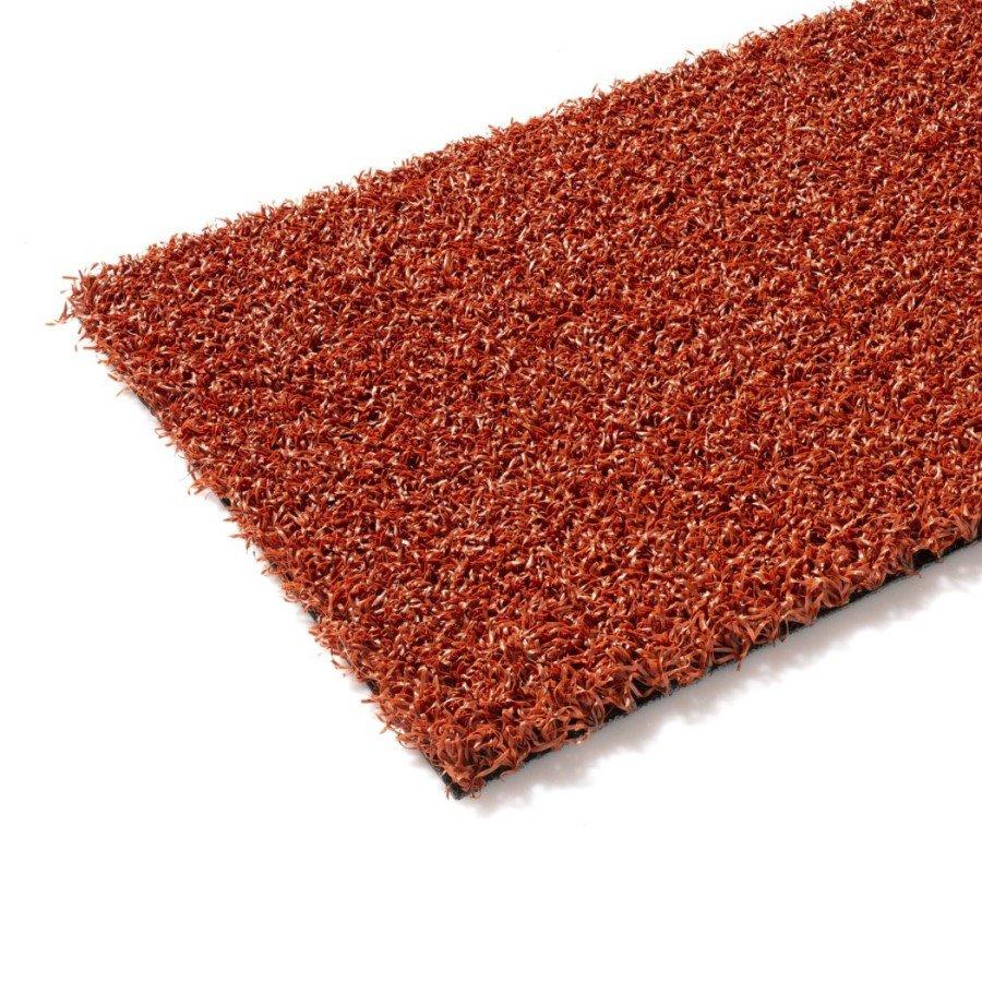 Cihlový umělý trávník (metráž) FLOMA Gravel Colourfull Grass - délka 1 cm a výška 1,4 cm