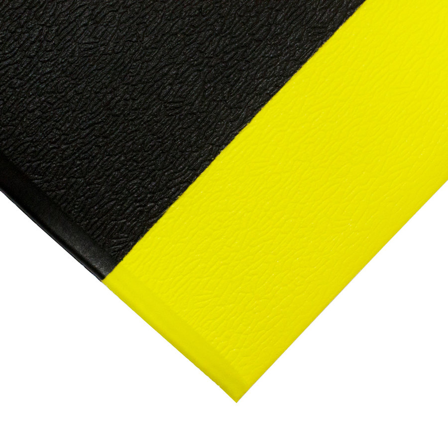 Černo-žlutá protiskluzová protiúnavová průmyslová pěnová rohož - výška 0,9 cm