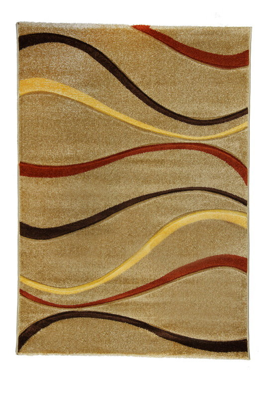 Béžový kusový koberec Joy De Luxe - délka 170 cm a šířka 120 cm