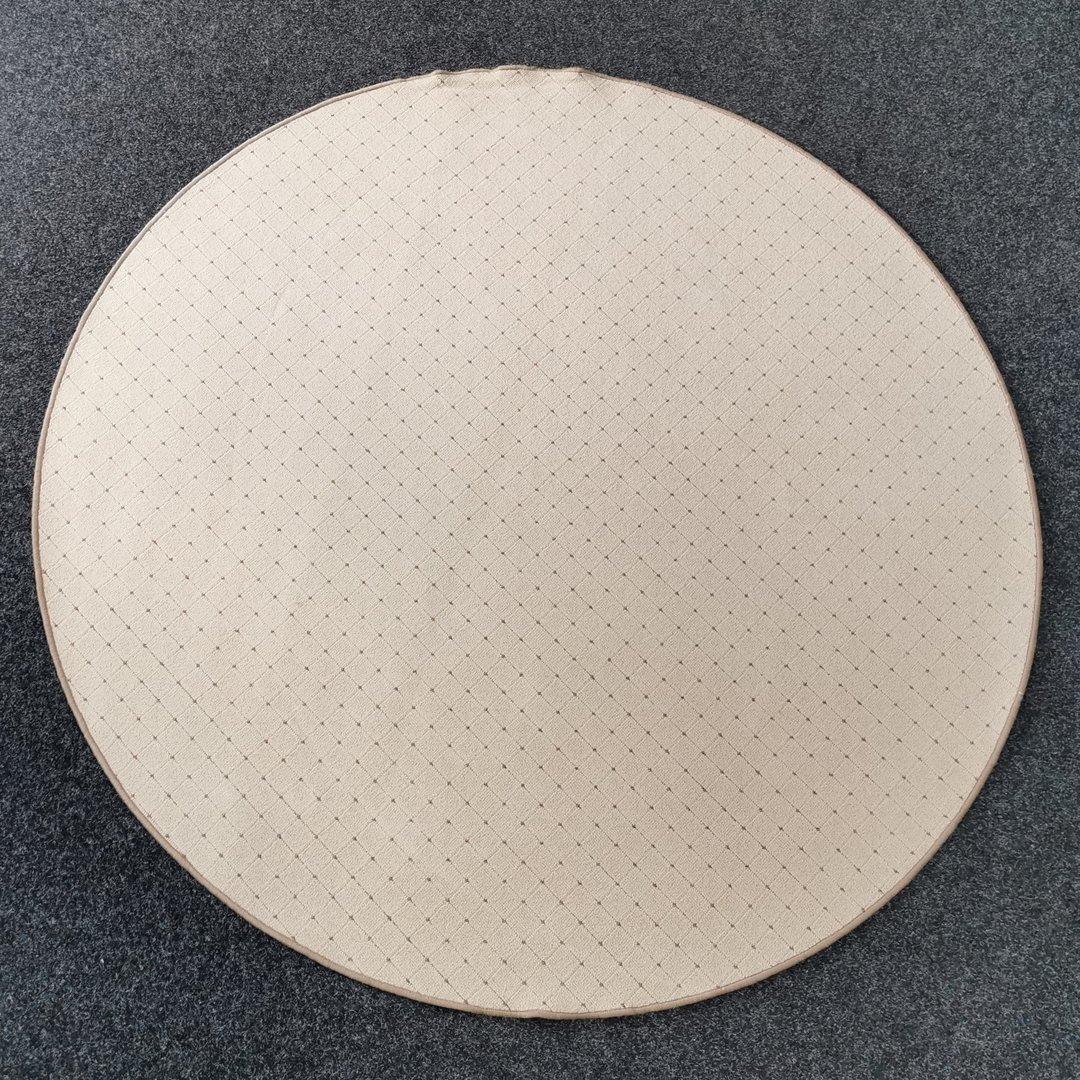 Béžový kusový kulatý koberec Udinese - průměr 200 cm