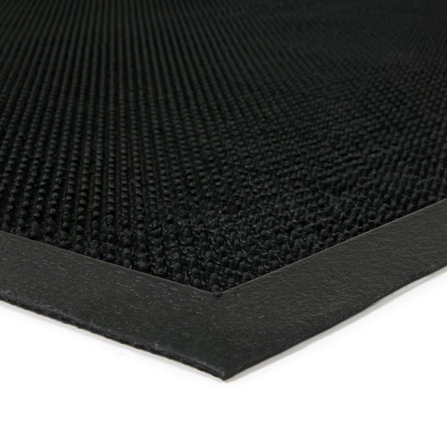 Gumová vstupní venkovní čistící rohož Rubber Brush, FLOMA - délka 90 cm, šířka 120 cm a výška 1,2 cm