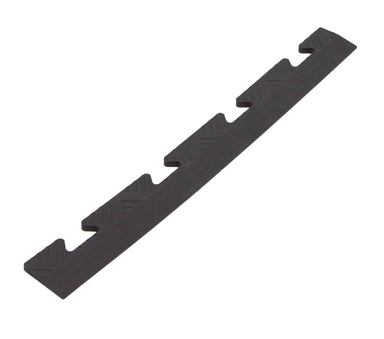 """Černý PVC vinylový nájezd """"samice"""" pro dlaždice Tenax - délka 48 cm, šířka 5,1 cm a výška 0,8 cm"""